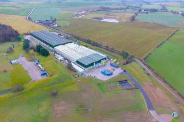 ariel-view-of-a-factory-in-the-middle-of-a-field